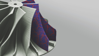 "For the first time, scientists at Fraunhofer IWS printed 3D high-entropy demonstrator structures made of the Cantor alloy ""CrMnFeCoNi"" using the Fused Filament Fabrication (FFF) process. On the surface, the illustration shows an example of a particularly high-strength microstructure consisting of two phases as a planned further alloy system development."